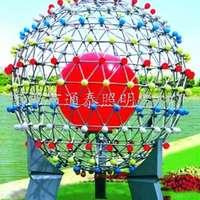 制作优质广场球形景观灯柱形景观灯七彩变色景观灯价格优惠