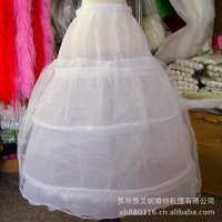 批发新娘裙撑三钢圈1层硬纱Q301结婚纱衬普通绑带腰蓬裙厂价直销