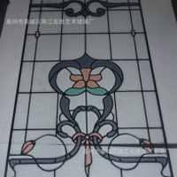 厂家供应镶嵌玻璃铜条镶嵌玻感柜玻璃量大从优
