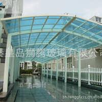 秦皇岛玻璃厂直销批发6+6阳光顶/采光顶/阳光房/雨棚钢化夹胶玻璃