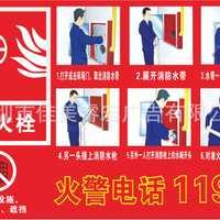 企业工厂车间消防安全标识牌验厂标志贴消火栓使用方法k071