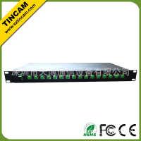 【厂家直销】1分16机架式PLC分光器,三网合一传输设备