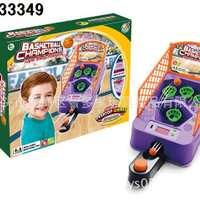 儿童益智游戏机/投篮游戏机带灯光音乐/体育玩具