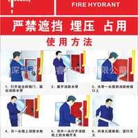 企业工厂车间消防安全标识牌消防栓使用方法k085
