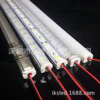 led12V24V220V全塑胶外壳防水硬灯带展示柜5730贴片灯条