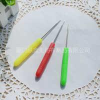 彩色塑料千枚通塑胶柄锥子四合扣安装辅助工具钻孔工具