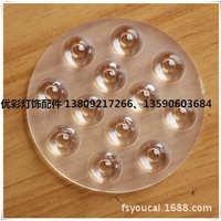 大功率12Wφ92光面非球面led连体透镜厂家直销射灯筒灯配件可定制