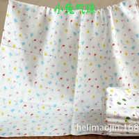新款75*140无荧光4层精梳全棉纱布加厚浴巾婴幼儿盖被空调睡毯