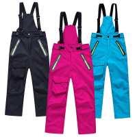 新款儿童冲锋裤户外男童女童加厚抓绒冲锋裤登山裤保暖滑雪裤
