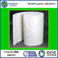 精密铸造加热炉专用含锆型硅酸铝纤维毯陶瓷纤维毯甩丝针刺毯