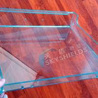 厂家批发透明PC有机玻璃板折弯焊接机械防护罩加工成型加工定制