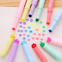CS002韩国文具创意多功能糖果色笔头奇异荧光笔彩色记号笔批发
