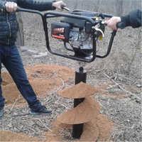 便携式挖坑机特点植树快速挖洞机栽树苗的好选择汽油地钻打孔机
