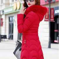 爆款2020新款女装韩版修身羽绒棉中长款女式棉衣棉袄棉服外贸外套