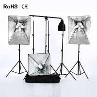 摄影顶灯补光灯横臂套装四灯头摄影棚柔光箱套装厂家直供