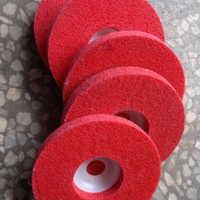 4寸红色角向磨光机专用纤维轮抛光轮磨光轮尼龙轮100*16