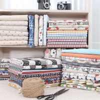 厂家直销亚麻面料麻布印花多色可选抱枕手工DIY用布