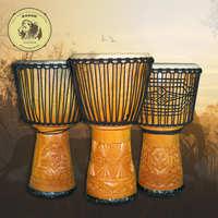 印尼鼓非洲鼓14寸手鼓整木手工掏空雕刻山羊皮金贝鼓乐器品质保证