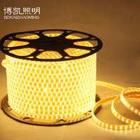 led灯带批发高压led灯条5050家装灯带卧室客厅软高压220V室内灯带