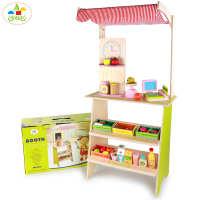 超市儿童仿真木制收银机大号收银台玩具男娃女孩过家家小卖部套装