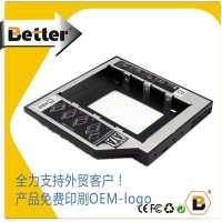 12.7mmSATA3笔记本光驱位硬盘托架铝合金固态机械通用better