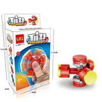 积木指尖螺旋梦幻手指陀螺减压玩具儿童男孩拼装小颗粒积木三叶