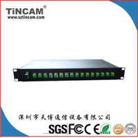 天博1X16PLCSplitter,1U机架式1分16机架式PLC分光器1.5m