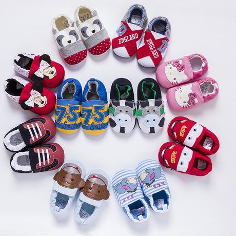 婴儿鞋春秋软底宝宝鞋子学步鞋0-1岁男女童家居防滑地板鞋不掉鞋