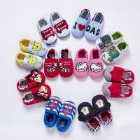 婴儿鞋0-1岁软底宝宝鞋子学步鞋春秋婴幼儿家居卡通防滑地板鞋