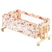 婴儿摇篮摇椅小宝宝婴儿床实木多功能安抚摇摇床床边床拼接床