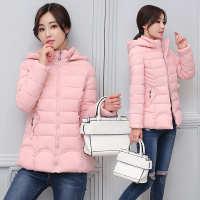 换季韩版女士轻薄羽绒服修身显瘦短款棉衣连帽纯色棉服厂家直销
