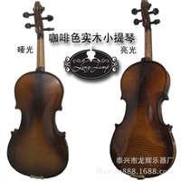 咖啡色实木小提琴工艺花纹小提琴哑光亮光可选
