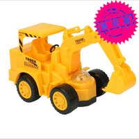 地摊热卖玩具电动万向投影挖机灯光音乐电动工程车儿童玩具