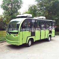 旅游电动观光车加装冷暖空调,封闭式带门景区公园观光电瓶车