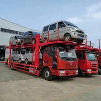 专业5位车辆轿车运输车-解放J6单桥5位轿运车