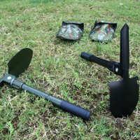 车载便携小号工兵铲钓鱼多功能工具铲户外露营多用折叠园艺铁铲