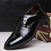 新款尖头男士皮鞋青年商务正装皮鞋英伦时尚休闲男鞋发型师男婚鞋