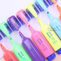 东洋彩色荧光笔SP25荧光笔标记笔水性记号笔粗荧光水彩笔