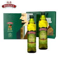 西班牙伯爵原装进口特级初榨橄榄油食用油礼盒装500MLX2送礼团购