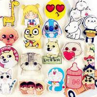 卡通可爱少女心胸针徽章小猫单身狗手机贴片动漫冰箱贴节日礼物