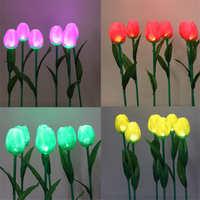 LED花海芦苇灯亚克力郁金香带叶子LED地插灯草坪插花灯