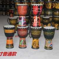 非洲鼓标准10寸丽江手鼓整木掏空纯羊皮丽江手鼓