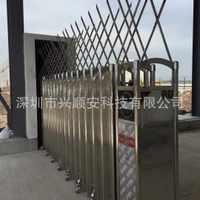 湛江不锈钢有轨道无轨道电动伸缩门遥控开关门