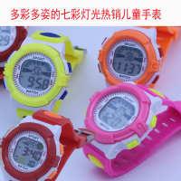 塑料 圆形 电子表手表韩版七彩