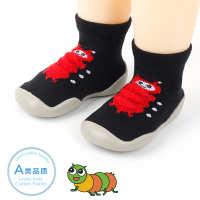 婴儿地板袜宝宝防滑软胶底儿童学步鞋袜厚底毛毛虫卡通室内袜套秋