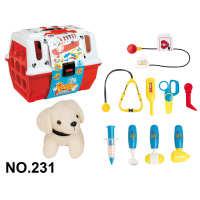 儿童幼儿园过家家宠物兽医玩具打针筒听诊器护士