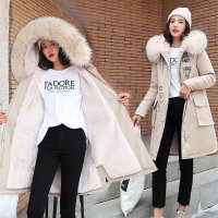 实拍19秋冬新款羽绒服女韩版长款宽松bf收腰显瘦派克皮草风衣外套
