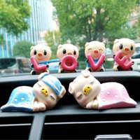汽车摆件可爱LOVE情侣小猪车饰品创意车内装饰用品车载装饰品礼品