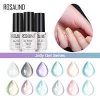 ROSALIND冰透果冻胶7ML透明甲油胶美甲12色光疗胶健康指彩芭比胶