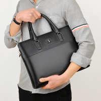 男士手提包单肩包斜挎包牛皮商务男式包袋电脑公文包外贸跨境